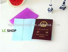 Fashion silicone passport case