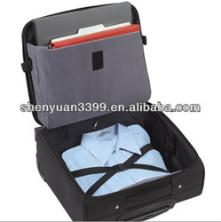 Black 15inch Polyester trolley laptop bags rolling computer bags