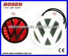 4D laser car logo decorative lights/car badge LED lamp ghost shadow light car emblem led light for TOYOTA Volkswagen NISSAN