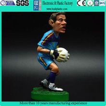 Wholesale pvc cartoon figure/custom cartoon figure toy/famous football player plastic cartoon figure