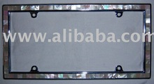 CAR PLATE FRAME WITH MOP SHELL INLAY