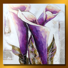 2013 New Arrival Lily Picture Of Handmade Flower Art Painting