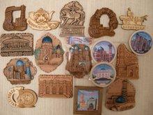 Handmade Uzbekistan fridge magnet.