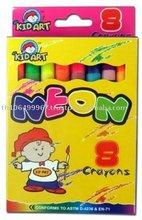 regular fluorescent crayon 8 pcs/box