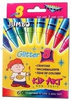 jumbo glitter crayon 8 pcs/box