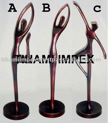 De Metal figurines, Señora estatua, Aluminio figurines, Aluminio estatuas