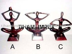 Metal Figurines, Yoga Statue, Aluminium Figurines, Aluminium Statues.
