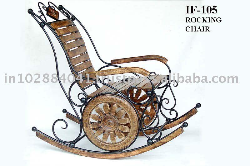 Antique Hand Carved Wooden Rocking Chair ~ Designer Garden Chair ...