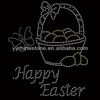 Rhinestone Easter Happy Easter Heat Rhinestone