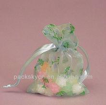 Sheer wedding gift bag organza circle organza bag