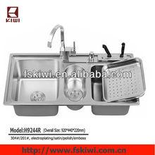 stainless steel triple bowl franke kitchen sink