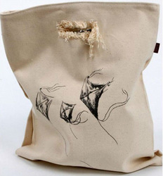 Recycled Organic Canvas Die Cut Shopping Bag