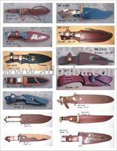 Bainha de couro para a caça facas