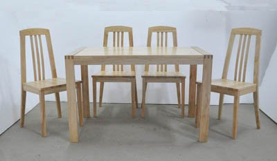 Discount Solid Wood Furniture on Solid Rubberwood Furniture Jat Dt17  Jat Ch17 Table And Chair Products