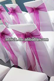 Elegant sheer sash for chair, organza chair sash