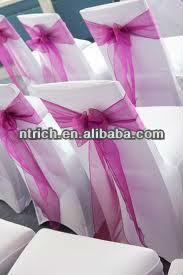Elegant sheer sash for chair, organza chair sash