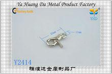nice quality metal foldable bag snap hooks for bag parts