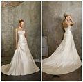 2013 nouvelle arrivée ivoire brillante bustier en organza robe de bal très sexy robes de mariée