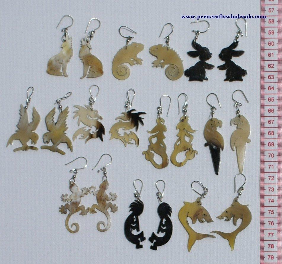 Animal Design Earrings Tribal