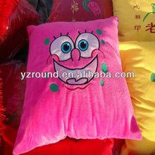 Sponge bob pink smiling face pillow toy