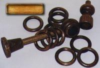 beech wood curtain rod set