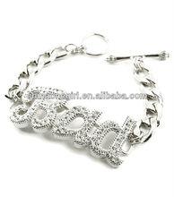Toggle, Metal, Crystal, Pave, Rihanna, BAD, Bold, Statement Bracelet
