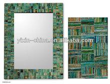 2013 Newest Designs Green Textile Mosaic Decorative Mirror