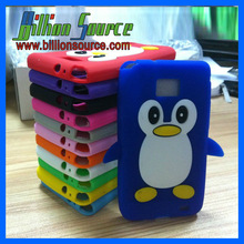 penguin case for iphone 4g silicone mobile phone cover with high quality