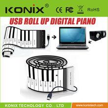 88 key hand roll piano thickening 2 belt midi keyboard stereo portable usb