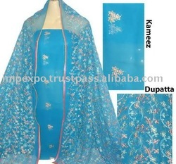 Ladies Unstitched Embroidered 3 Pcs Suit (Item No.IMPEXPOLADIESEMB917)