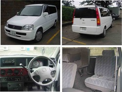 2001 second hand car HONDA STEP WGN GL/Van/RHD/74000km/Gas/Petrol/White