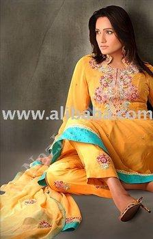 Yellow pishwas anarkali pakistani clothing shalwar kameez designer