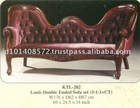 Louis Double Ended Sofa Set Mahogany Indoor Furniture.