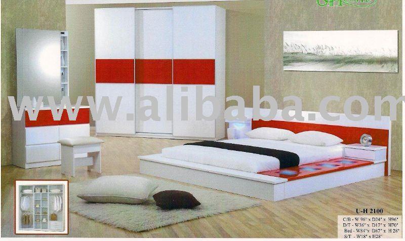 Moderne chambre japanse lit lit en bois lots de literie id du produit 108994717 - Chambres a coucher en bois modernes ...