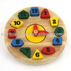 Educational toy wooden clock shape sorter wooden toy
