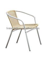 Wholesale PE wicker rattan aluminum chair, outdoor garden chair
