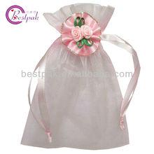 decorative wedding organza gift candy flowers bag