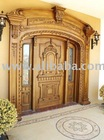 All hand carved wooden doors