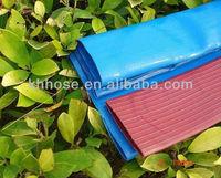 Tensile synthetic fiber reinforced heavy duty PVC layflat garden hose