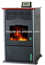Home use indoor wood pellet burning stove
