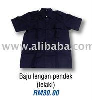 Kadet Polis - baju lengan pendek lelaki