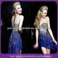 Bleu royal sa-q356 étincelles sequinpatch alibaba robe courte