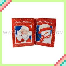 Red printing high quality Christmas garment santa paper bag