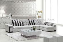 teak sofa set WQ/6878/6889/6891/6896/6899 Modern White Leather Sofa