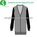 De manga larga v- cuello suéter de fotos diseños para las mujeres