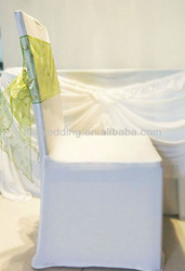 fashion organza sash for wedding and hotel decoration
