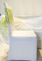 fashion organza spandex chair sash for wedding and hotel decoration