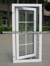 plastic grille window/outdoor plastic window/foshan wanjia brand