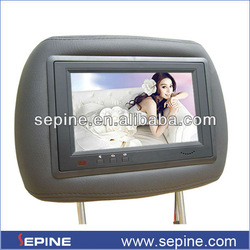 headrest 7'' 3g taxi advertising lcd for taxi back seat with control from server by software