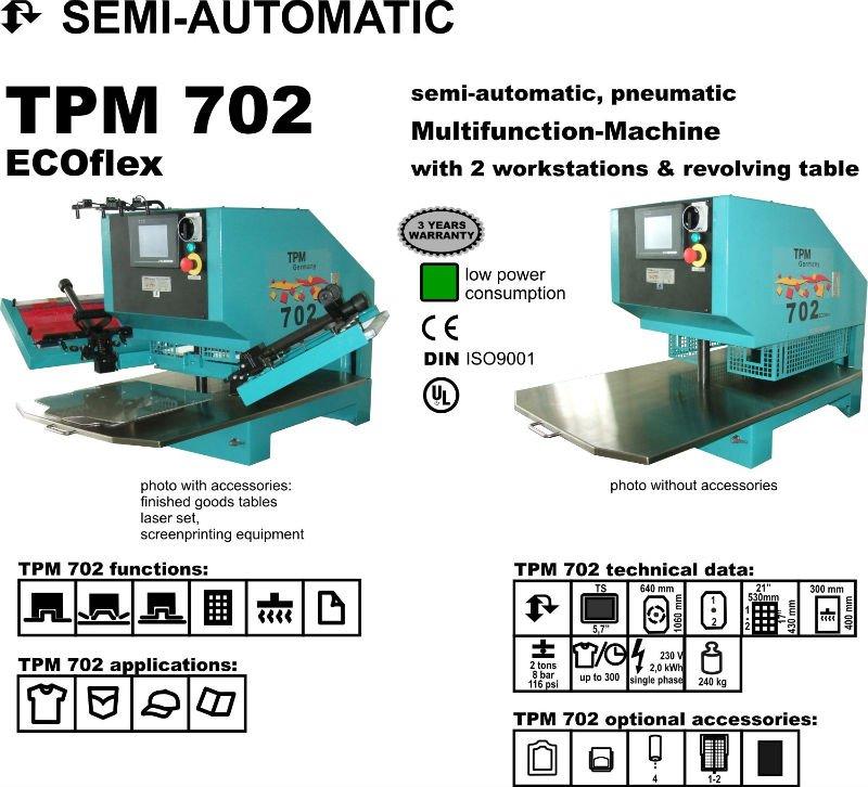 Impresora de grabación en relieve de múltiples funciones para la materia textil, cuero, dril de algodón, pantalones vaqueros, paño grueso y suave 1